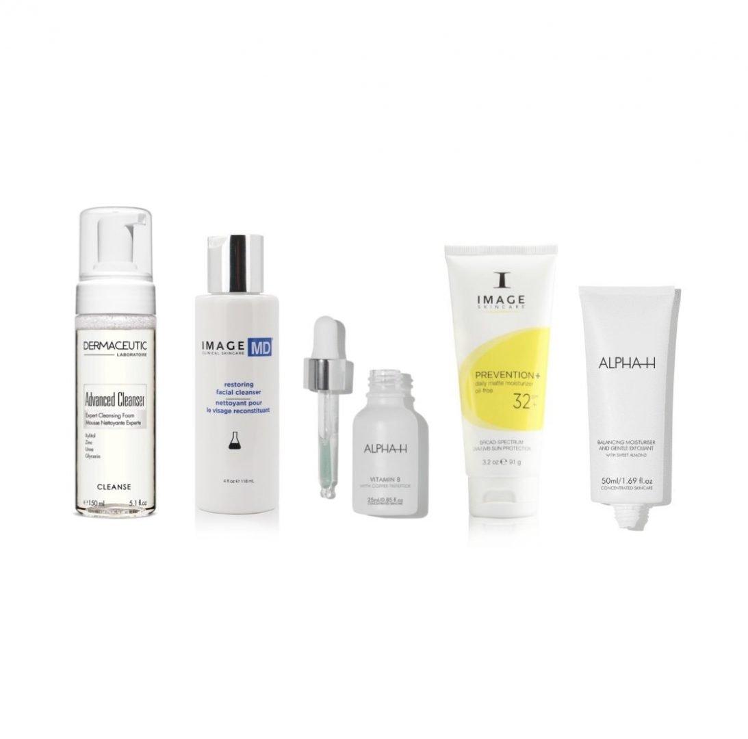 ACNE verminderen - beginner - vochtarme huid (set) beste producten om acne te verminderen