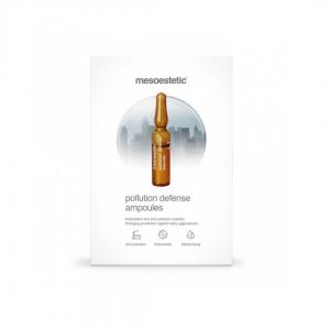 Mesoestetic Pollution Defense Ampoules VIVE Huidtherapie zorgt voor meer hydratatie en biedt bescherming tegen vrije radicalen. Gaat vroegtijdige huidveroudering tegen