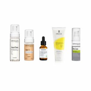PIGMENTVLEKKEN verminderen - beginner - normaal tot vette huid(set) beste producten om pigmentvlekken te verminderen