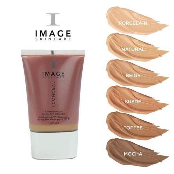 I CONCEAL Flawless Foundation – Kleuren IMAGE Skincare VIVE Huidtherapie