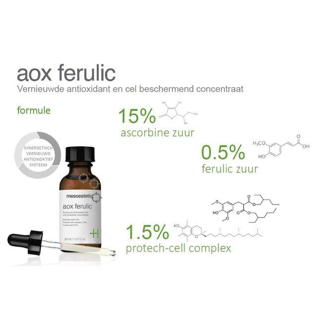 Mesoestetic AOX Ferulic antioxidant serum rimpels, pigmentvlekken en een mooie glow