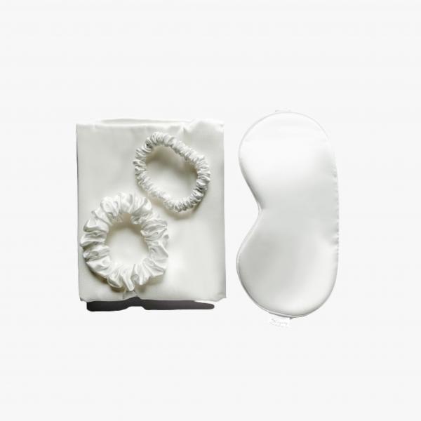 Silkyway zijden ivory sleep set | zijden kussensloop silkyway VIVE Huidtherapie