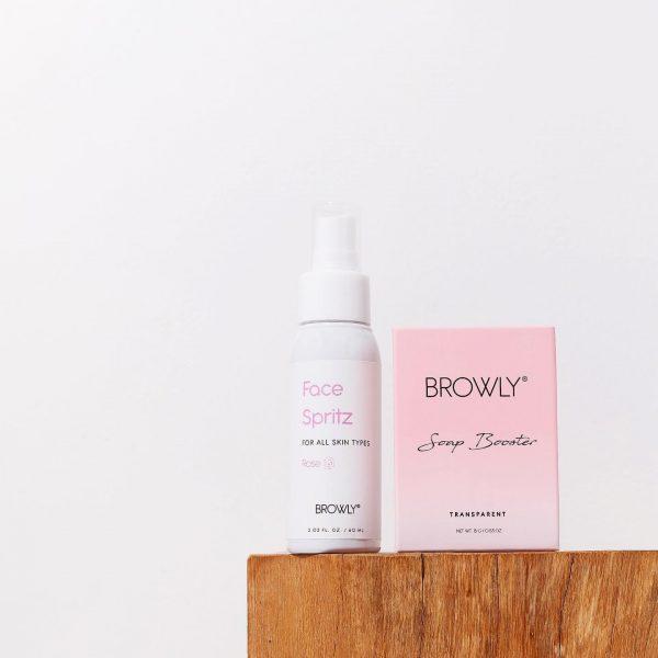 Browly Face spritz en soap bar wenkbrauwzeep VIVE huidtherapie